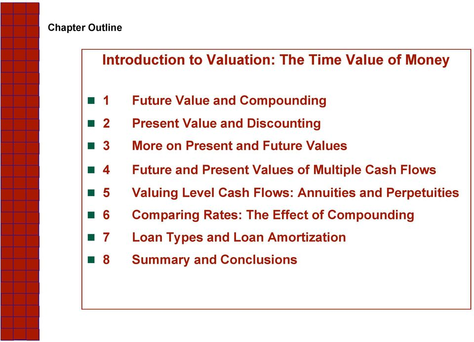 and Present Values of Multiple Cash Flows Valuing Level Cash Flows: Annuities and Perpetuities