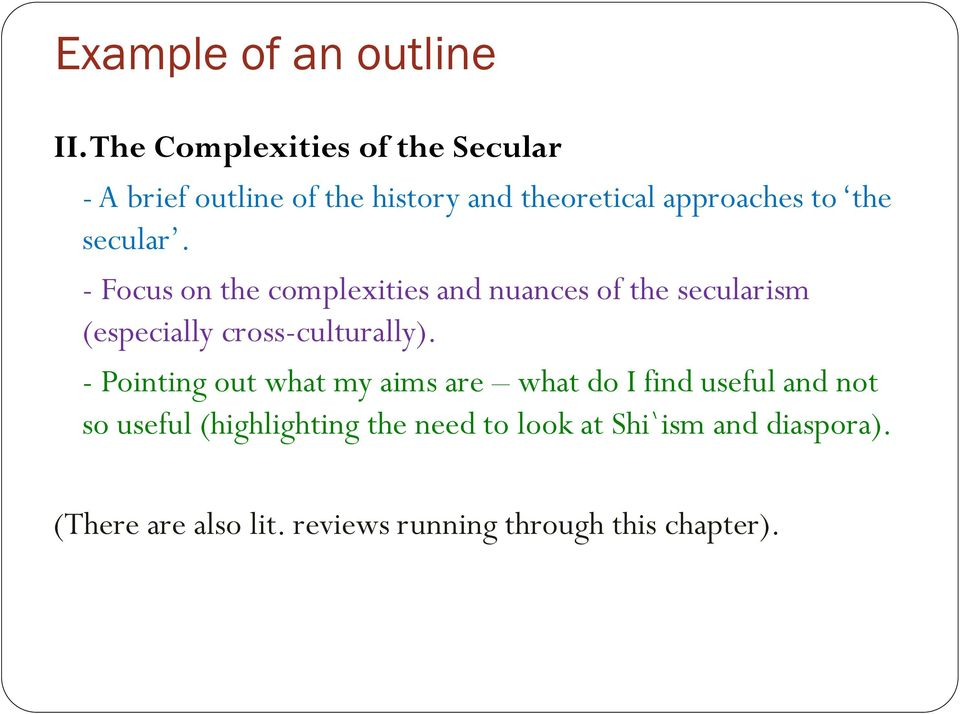 secular. - Focus on the complexities and nuances of the secularism (especially cross-culturally).