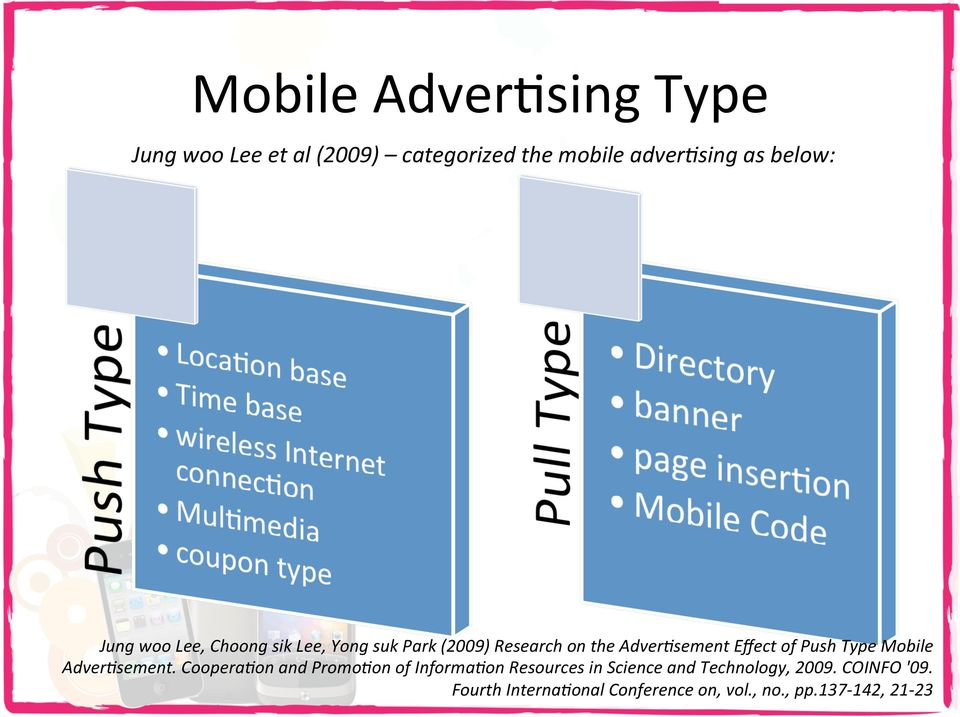 sement Effect of Push Type Mobile Adver?sement. Coopera?on and Promo?on of Informa?