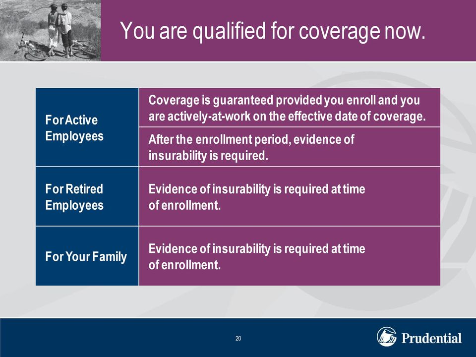 actively-at-work on the effective date of coverage.