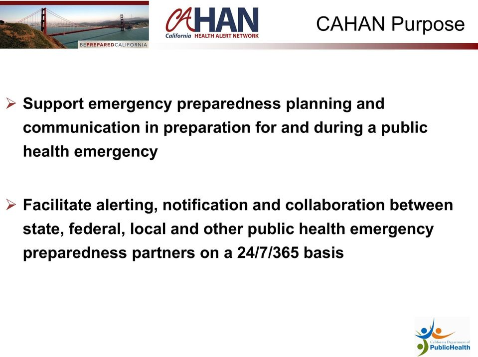 alerting, notification and collaboration between state, federal, local
