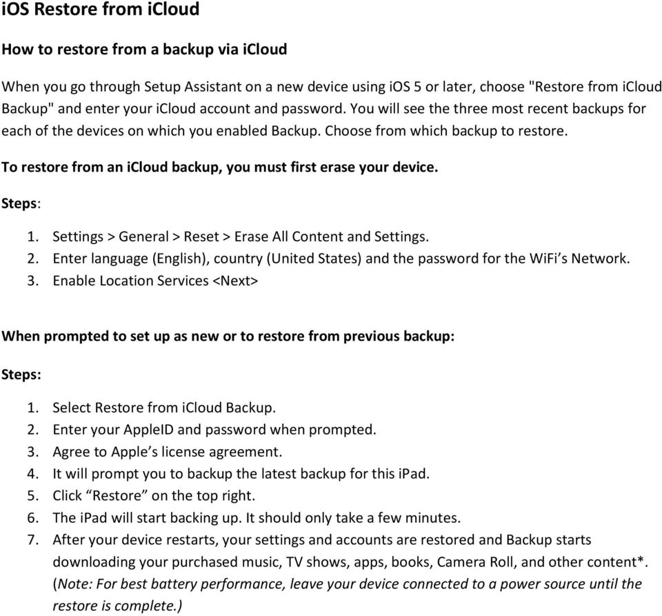 To restore from an icloud backup, you must first erase your device. Steps: 1. Settings > General > Reset > Erase All Content and Settings. 2.