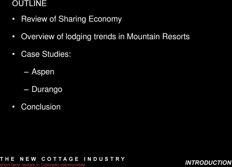 trends in Mountain Resorts Case