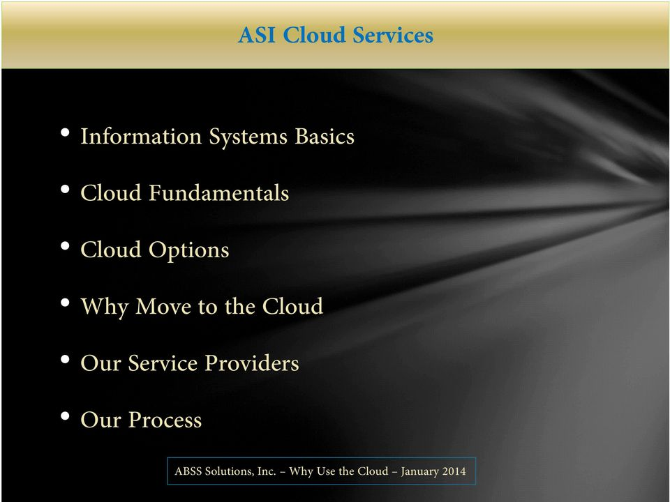 Cloud Options Why Move to the
