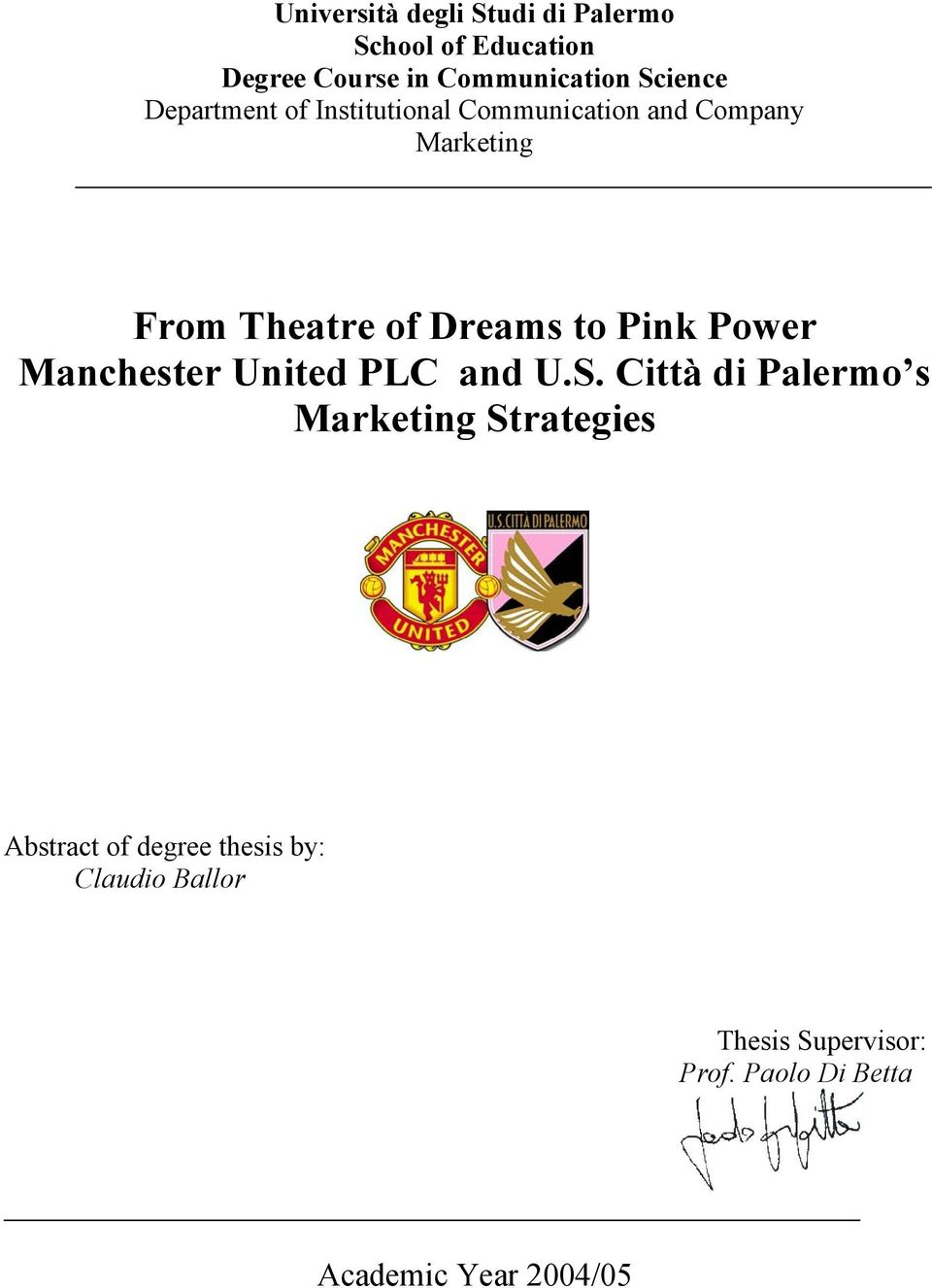 Pink Power Manchester United PLC and U.S.