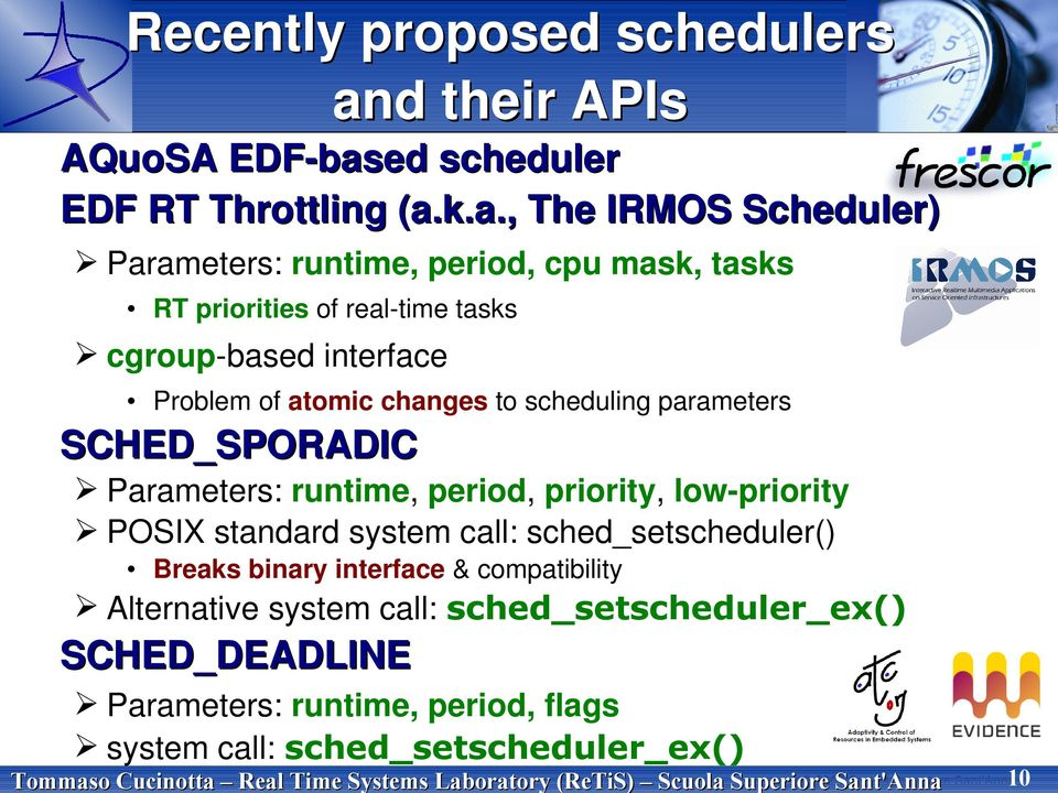 ed scheduler EDF RT Throttling (a.