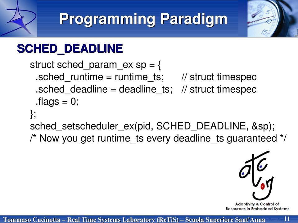 sched_runtime = runtime_ts; // struct timespec.sched_deadline = deadline_ts; // struct timespec.