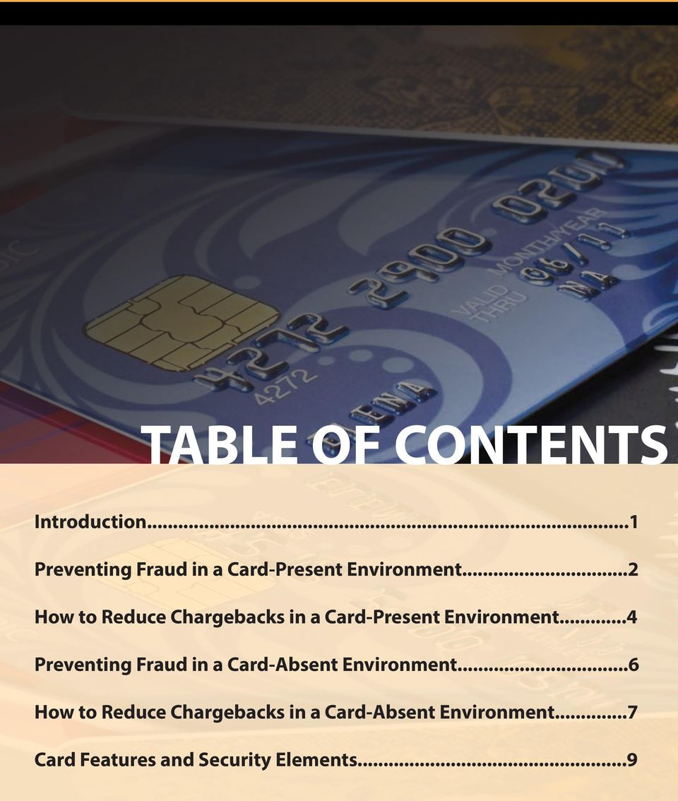 ..2 How to Reduce Chargebacks in a Card-Present Environment.