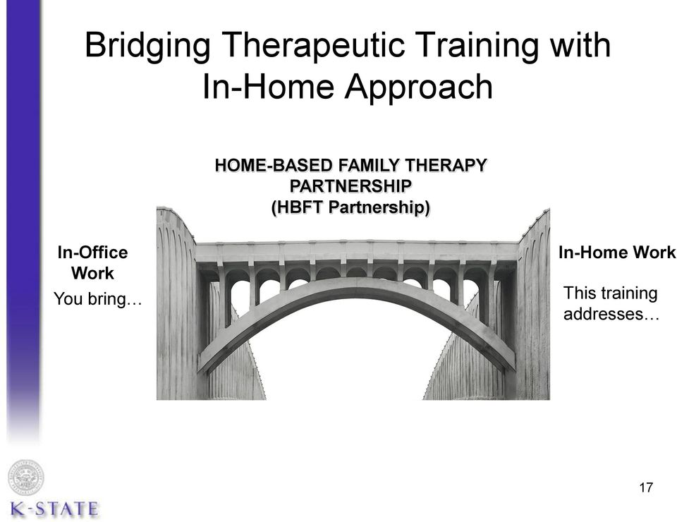 You bring Your Therapy Training and Experience Unique Features