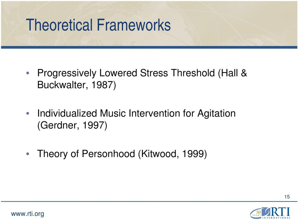 Individualized Music Intervention for Agitation