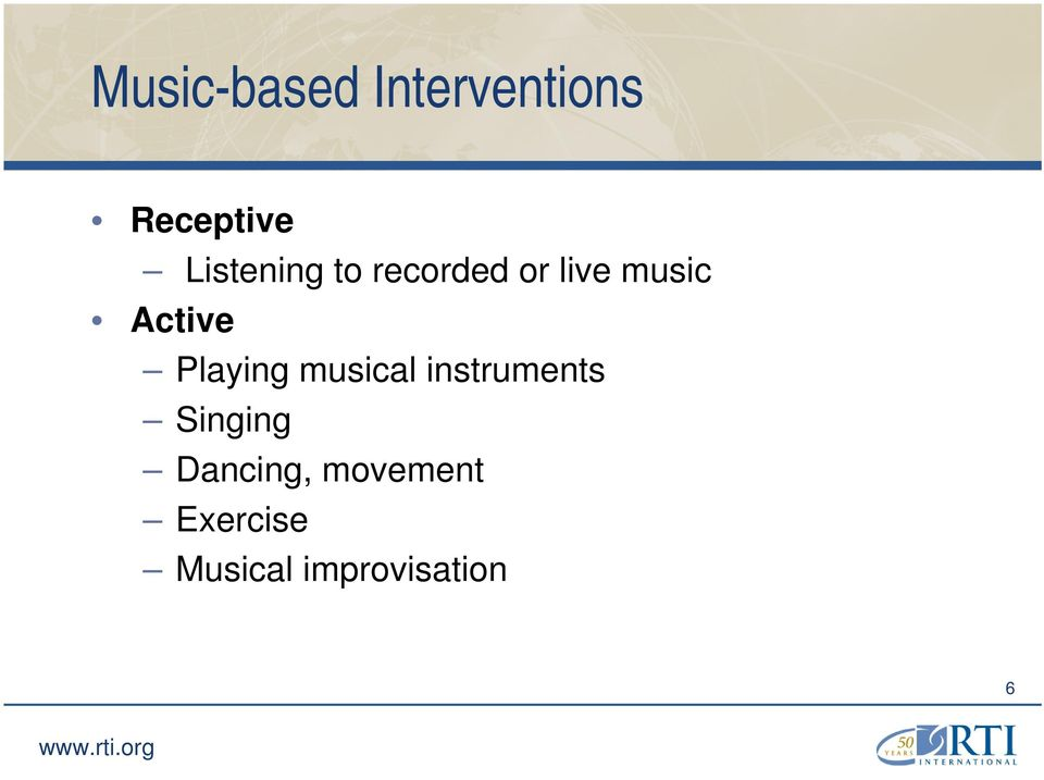 Active Playing musical instruments