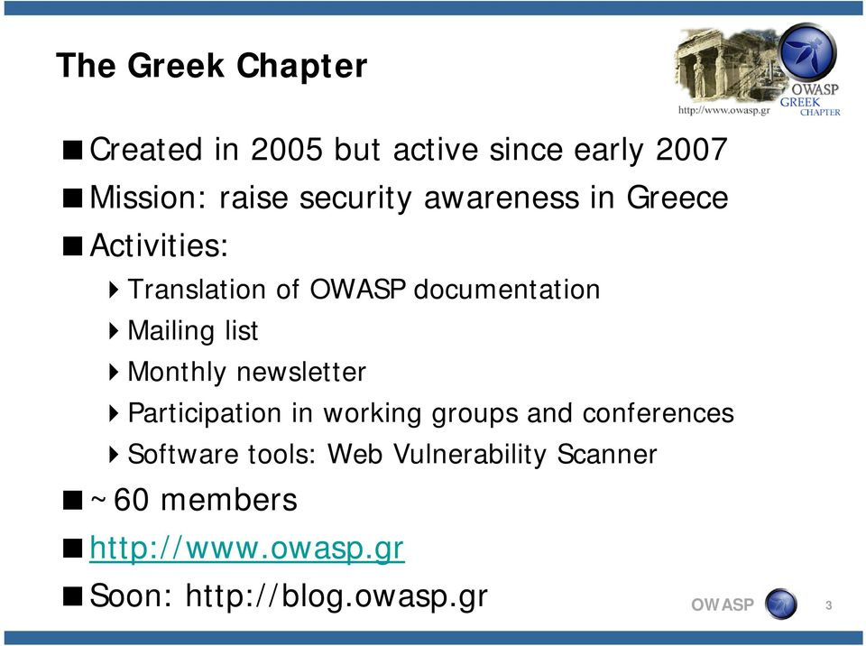 newsletter Participation P i in working groups and conferences Software tools: Web
