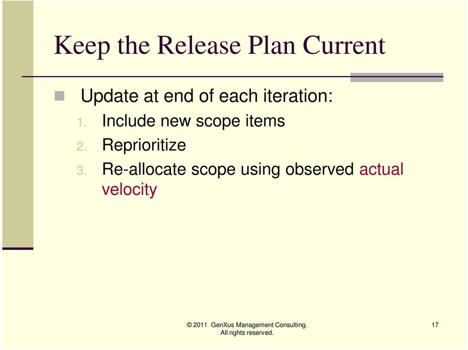 Include new scope items 2.