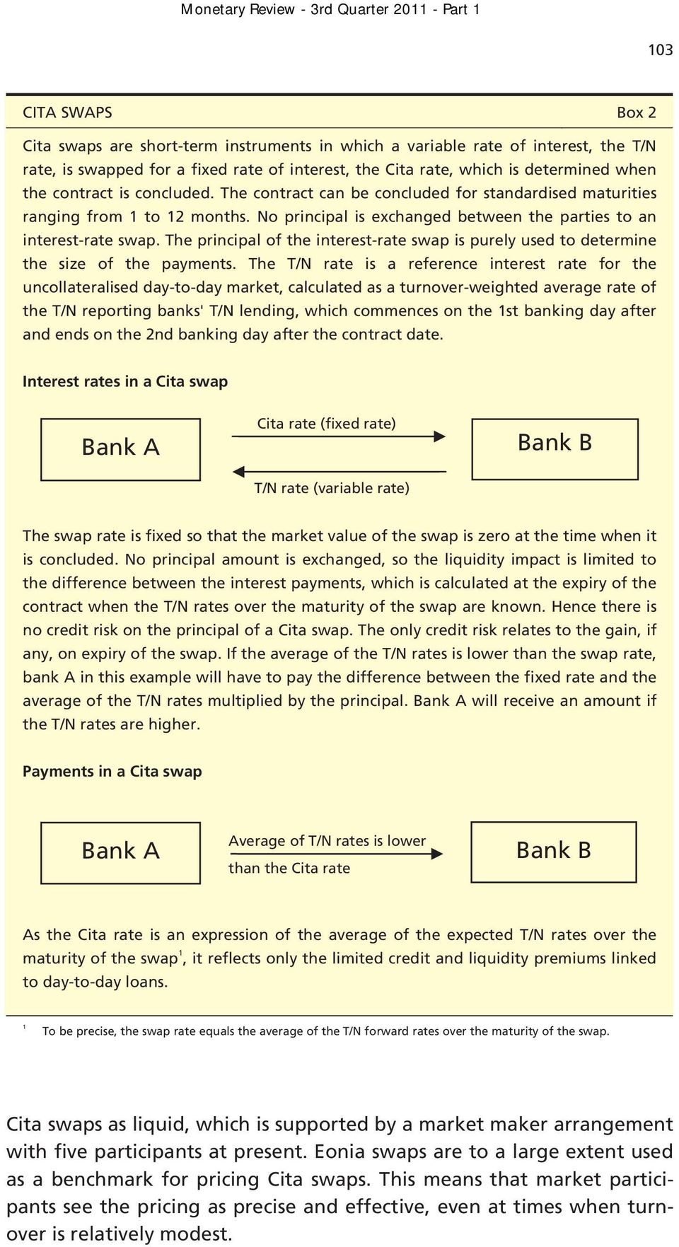 The principal of the interest-rate swap is purely used to determine the size of the payments.