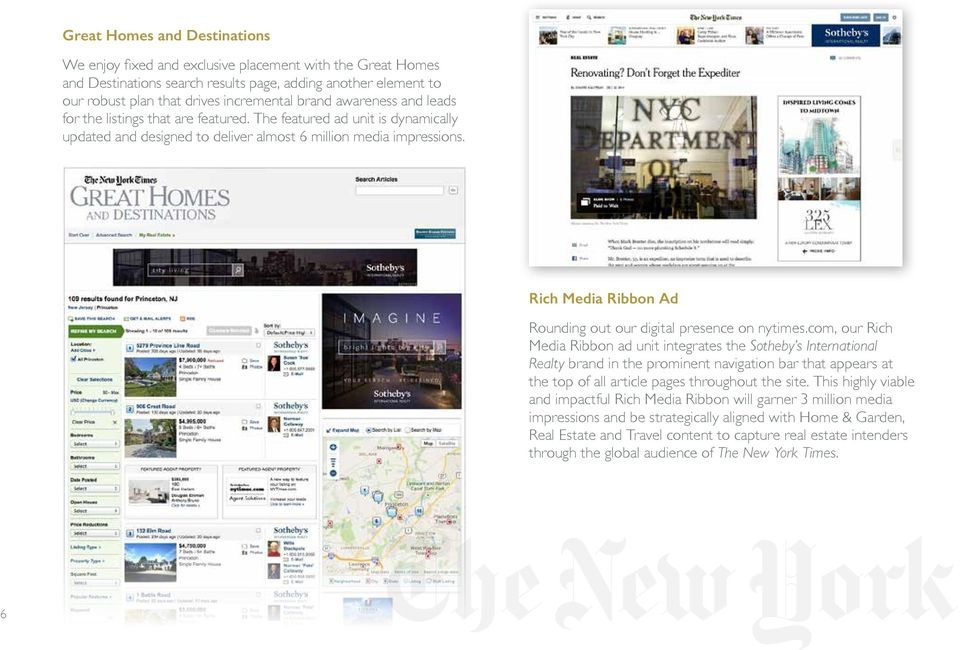 Rich Media Ribbon Ad Rounding out our digital presence on nytimes.