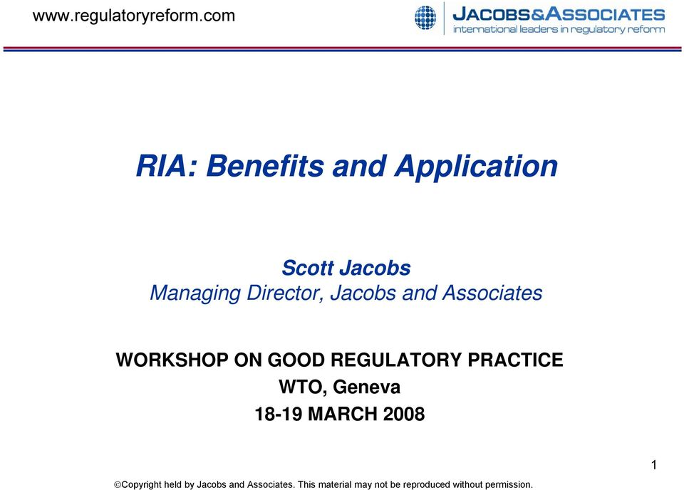 Associates WORKSHOP ON GOOD