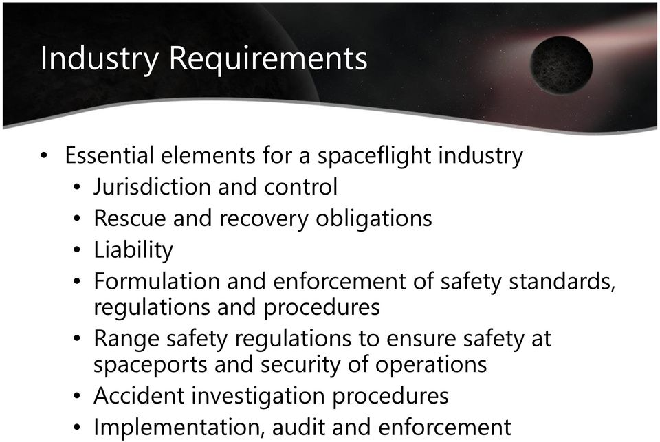 standards, regulations and procedures Range safety regulations to ensure safety at