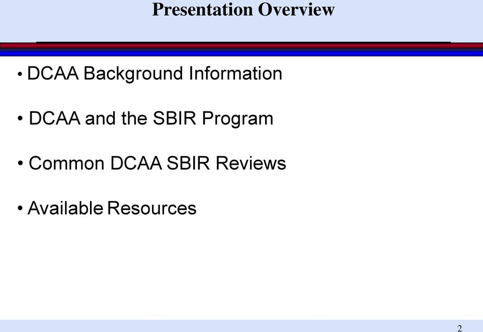 and the SBIR Program Common