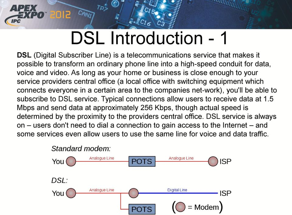 net-work), you'll be able to subscribe to DSL service. Typical connections allow users to receive data at 1.