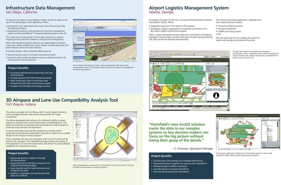 TM Enterprise reporting system with GIS This single web portal provides the key data necessary to support ongoing business decisions related to infrastructure management.