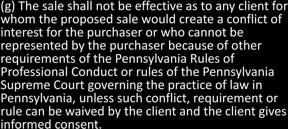 Pennsylvania Rules of Professional Conduct or rules of the Pennsylvania Supreme Court governing the practice of