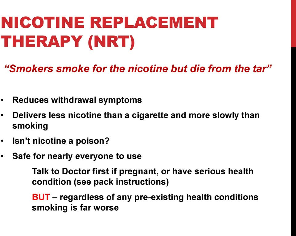 nicotine a poison?