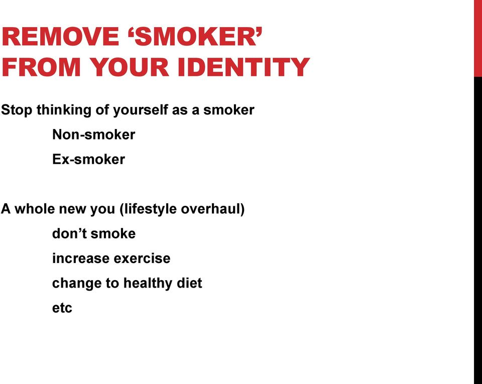 whole new you (lifestyle overhaul) don t smoke