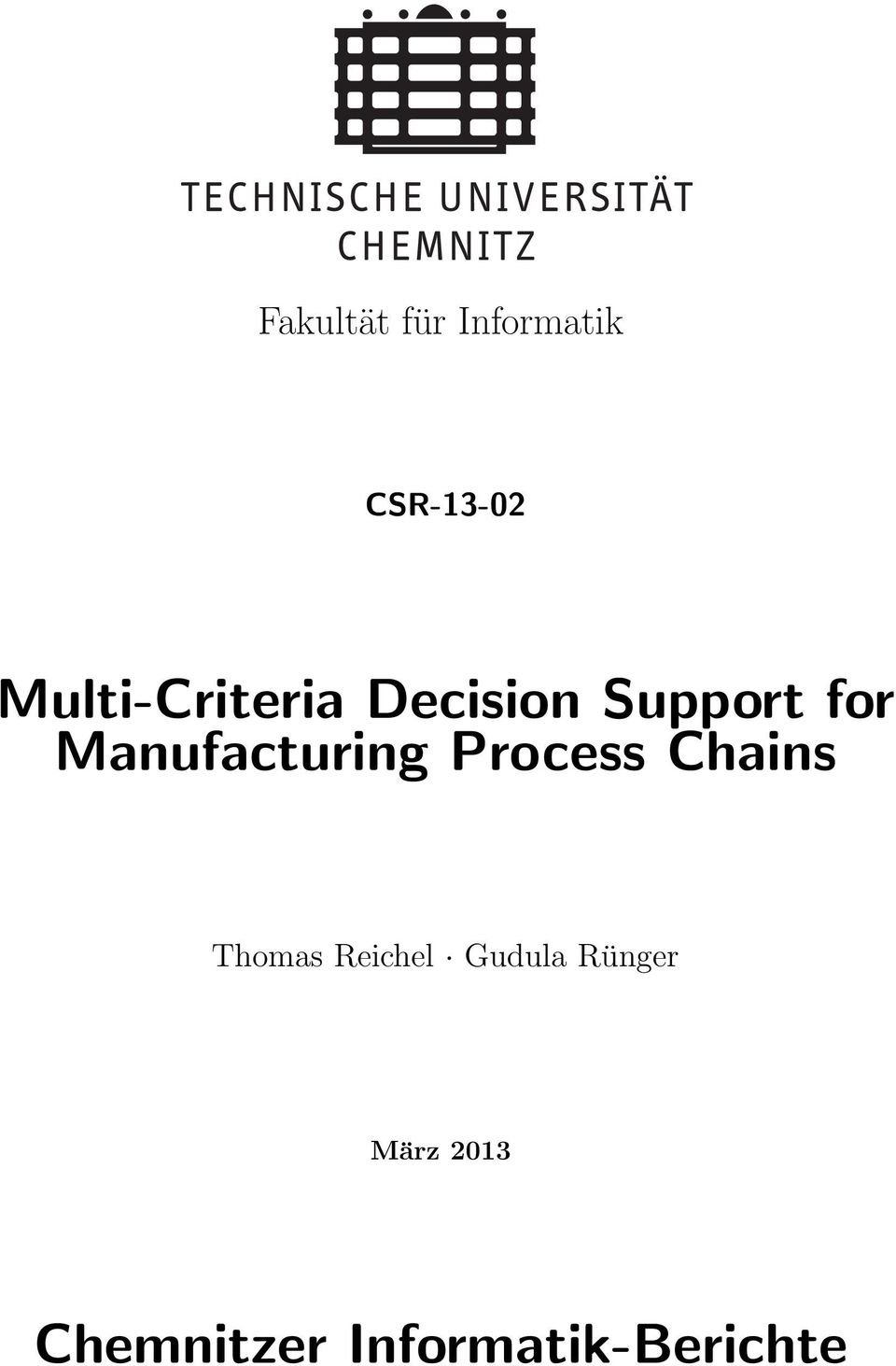 Manufacturing Process Chains Thomas
