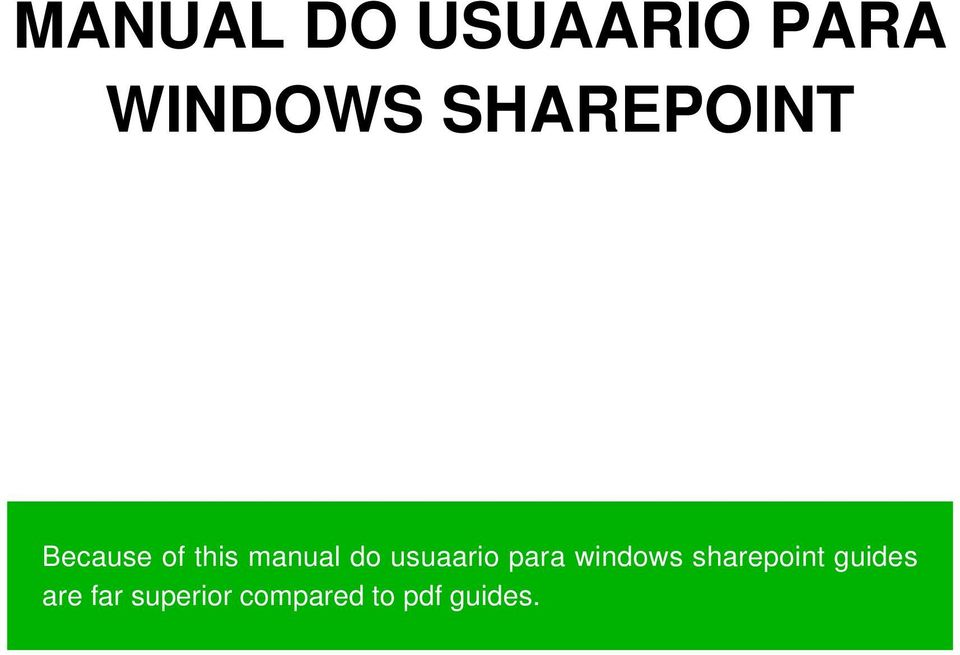 usuaario para windows sharepoint