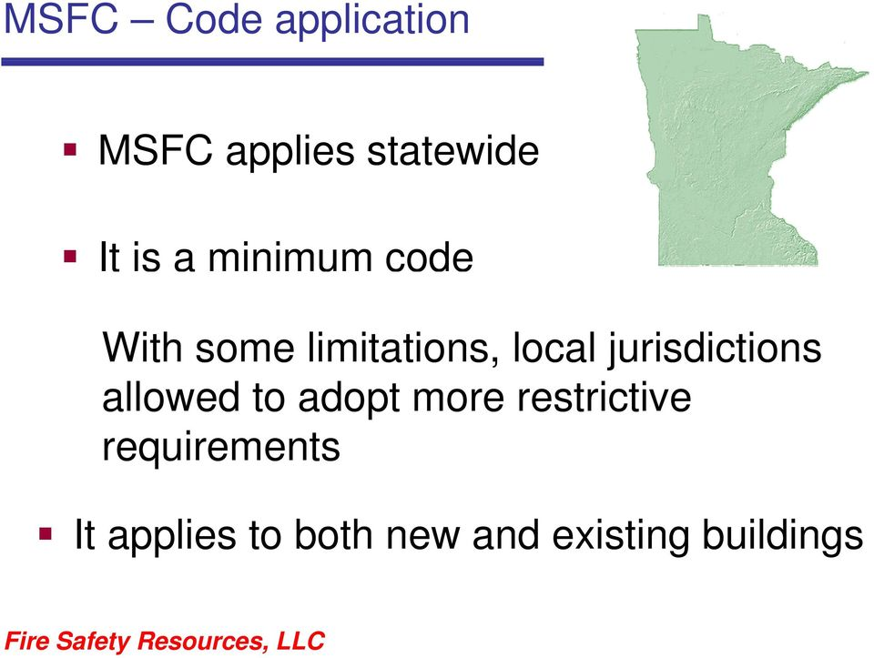 jurisdictions allowed to adopt more restrictive