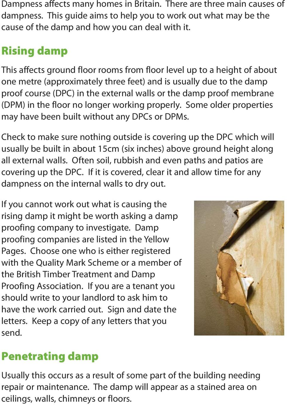 the damp proof membrane (DPM) in the floor no longer working properly. Some older properties may have been built without any DPCs or DPMs.
