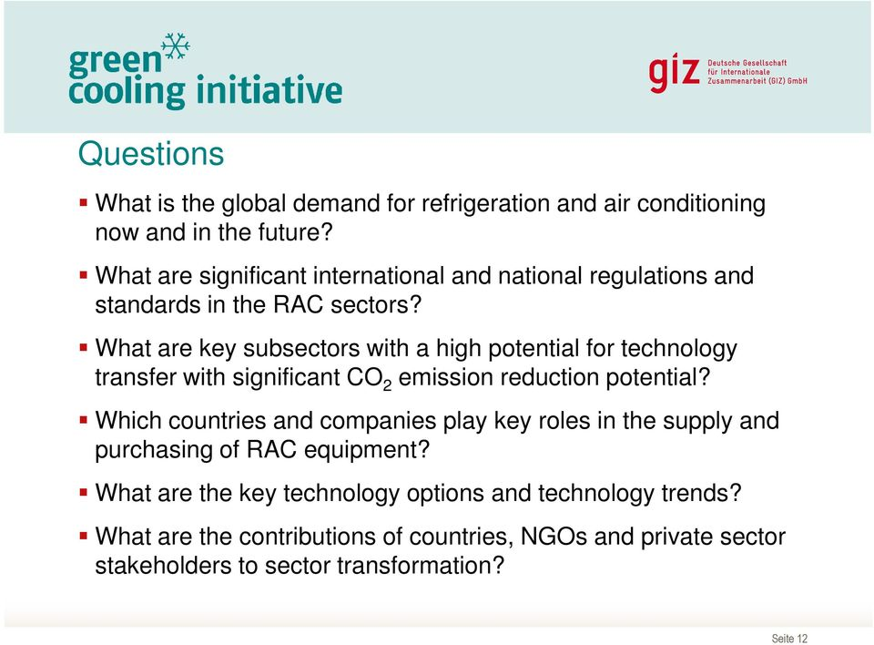 What are key subsectors with a high potential for technology transfer with significant CO 2 emission reduction potential?