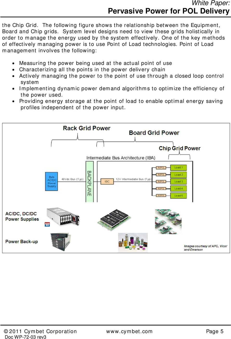 One of the key methods of effectively managing power is to use Point of Load technologies.