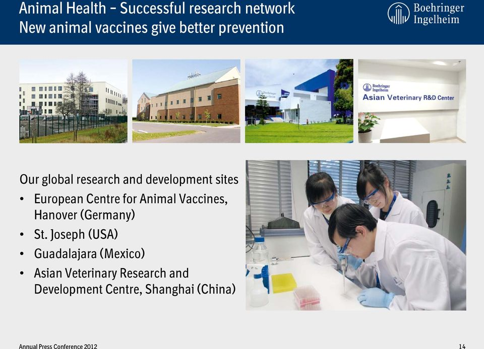 Centre for Animal Vaccines, Hanover (Germany) St.