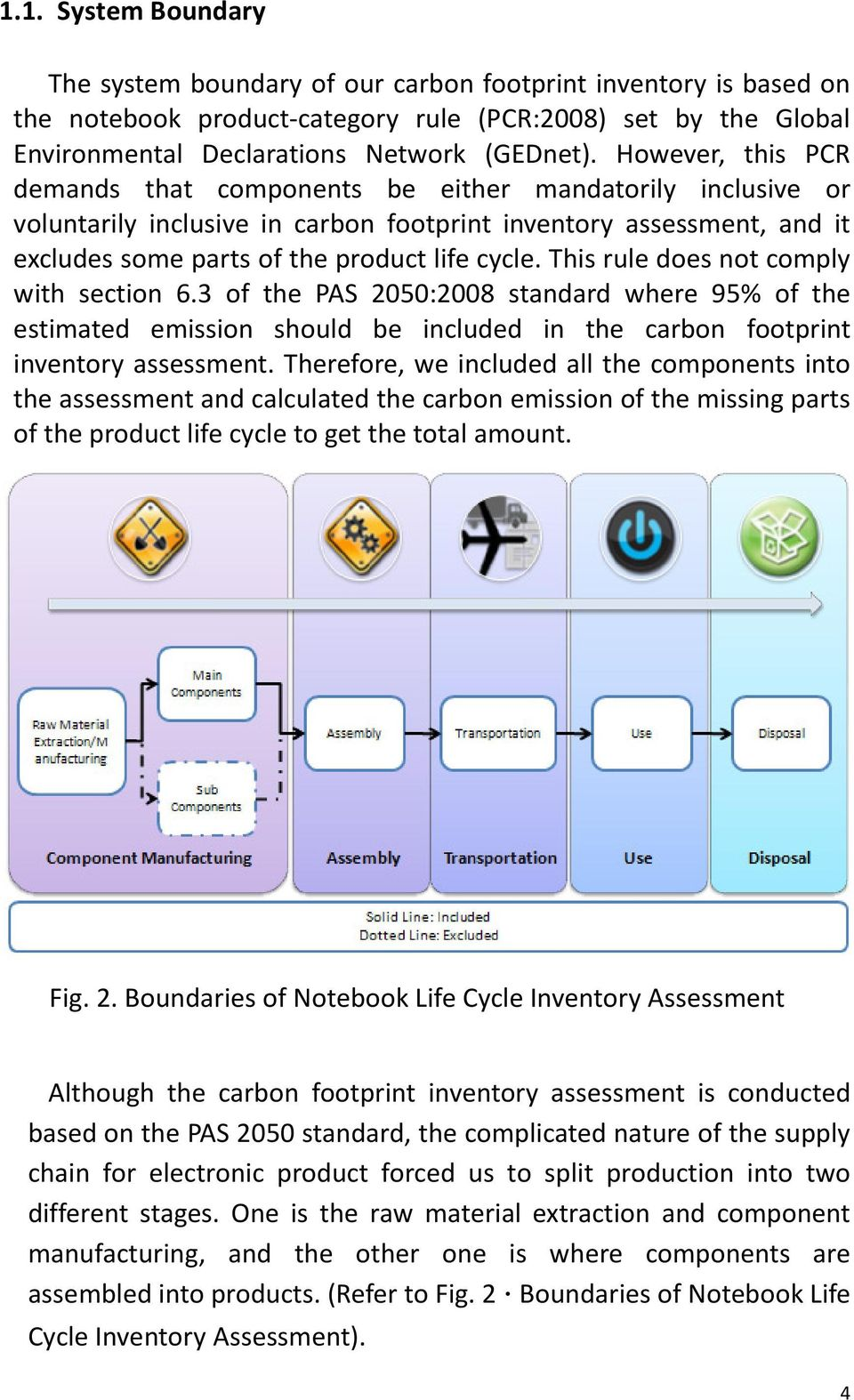 This rule does not comply with section 6.3 of the PAS 2050:2008 standard where 95% of the estimated emission should be included in the carbon footprint inventory assessment.