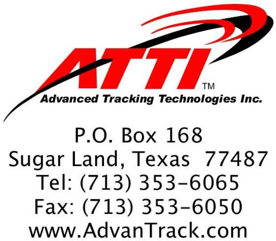 Box 168 Sugar Land, Texas 77487