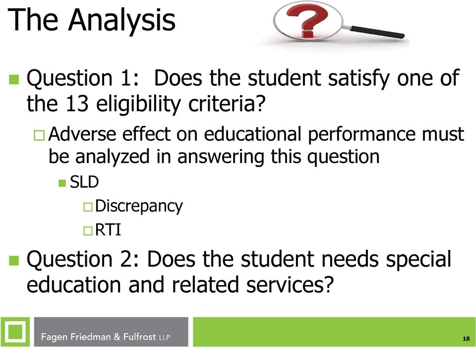 Adverse effect on educational performance must be analyzed in