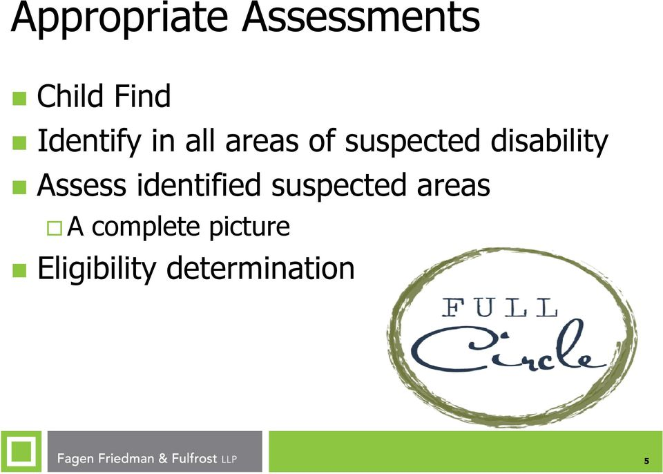 disability Assess identified suspected