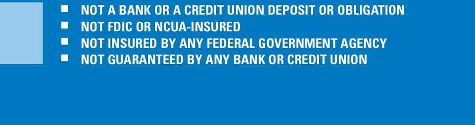 INSURED BY ANY FEDERAL GOVERNMENT AGENCY