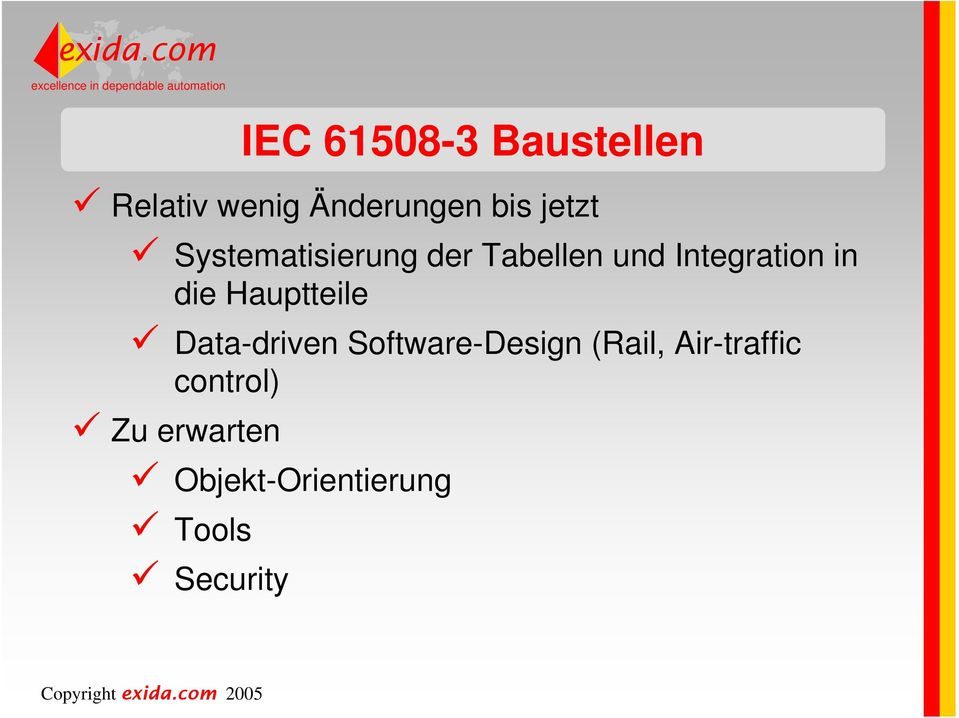 die Hauptteile Data-driven Software-Design (Rail,