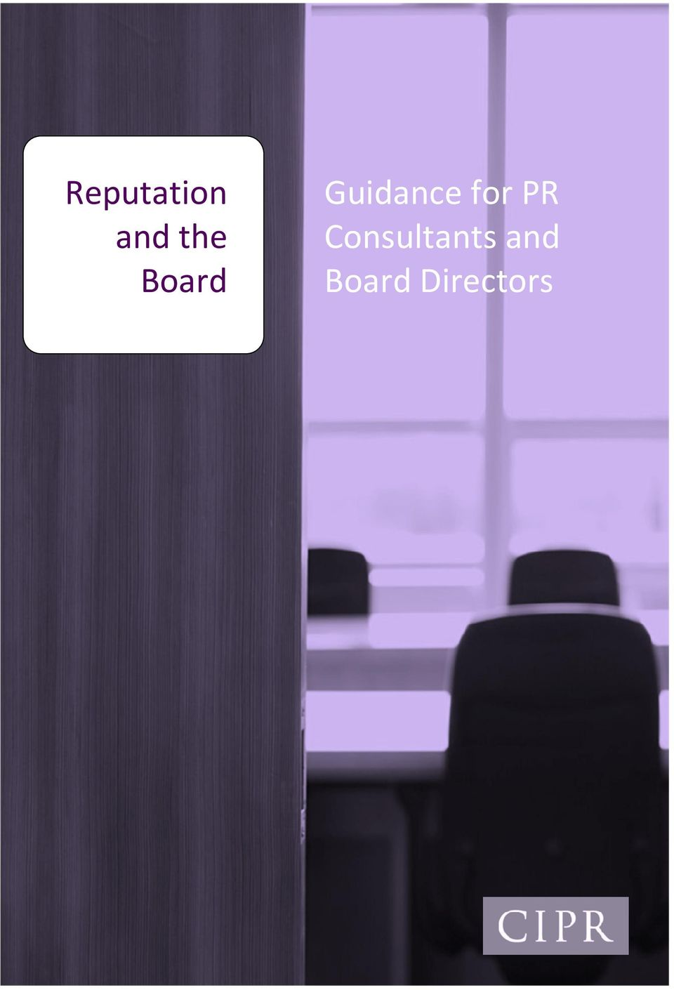 Guidance for PR