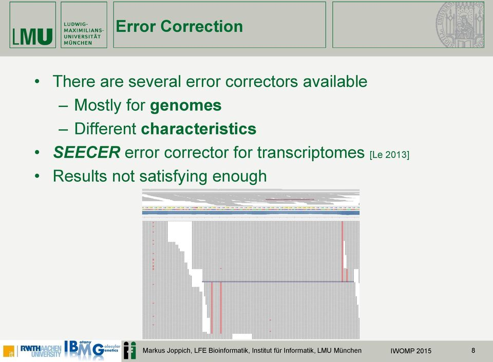 corrector for transcriptomes [Le 2013] Results not satisfying