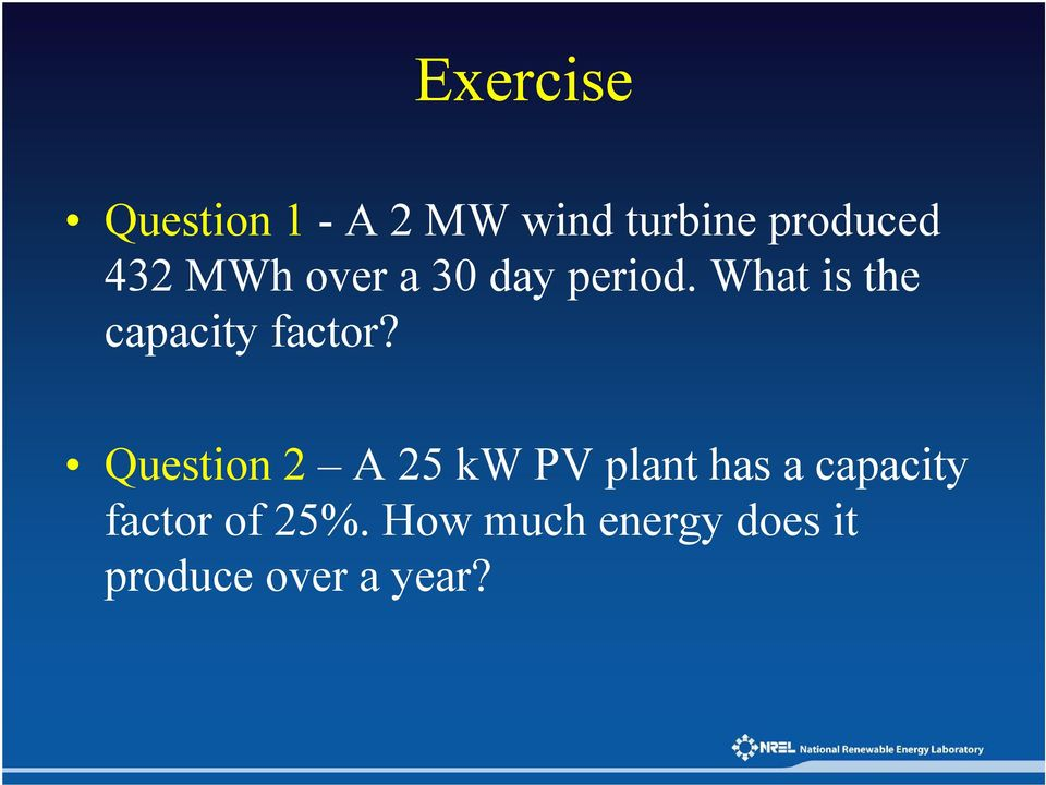 What is the capacity factor?