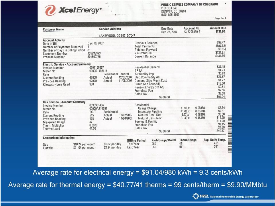 3 cents/kwh Average rate for thermal