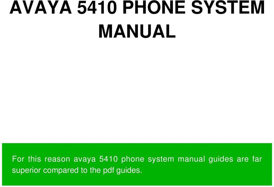 system manual guides are far