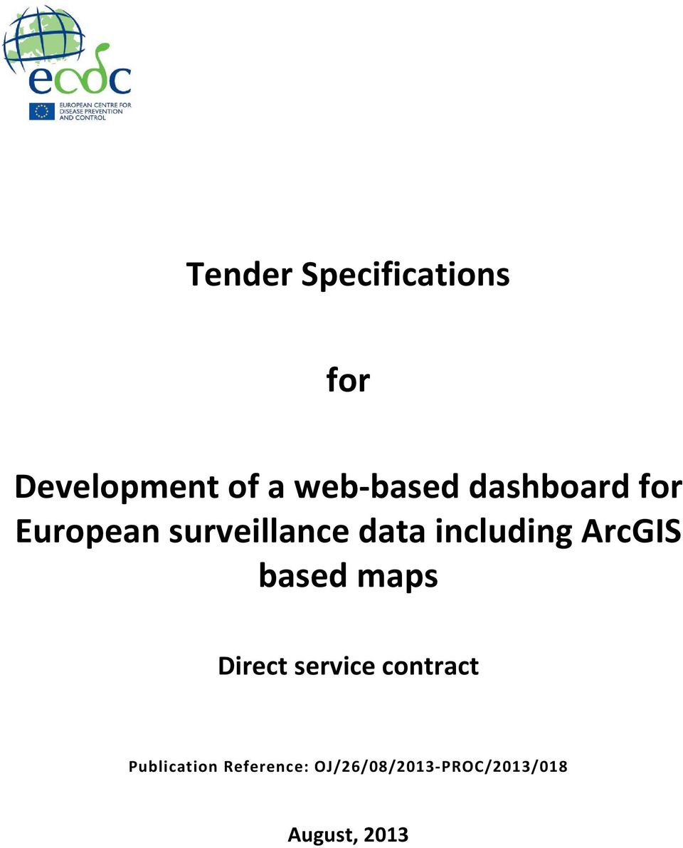 ArcGIS based maps Direct service contract