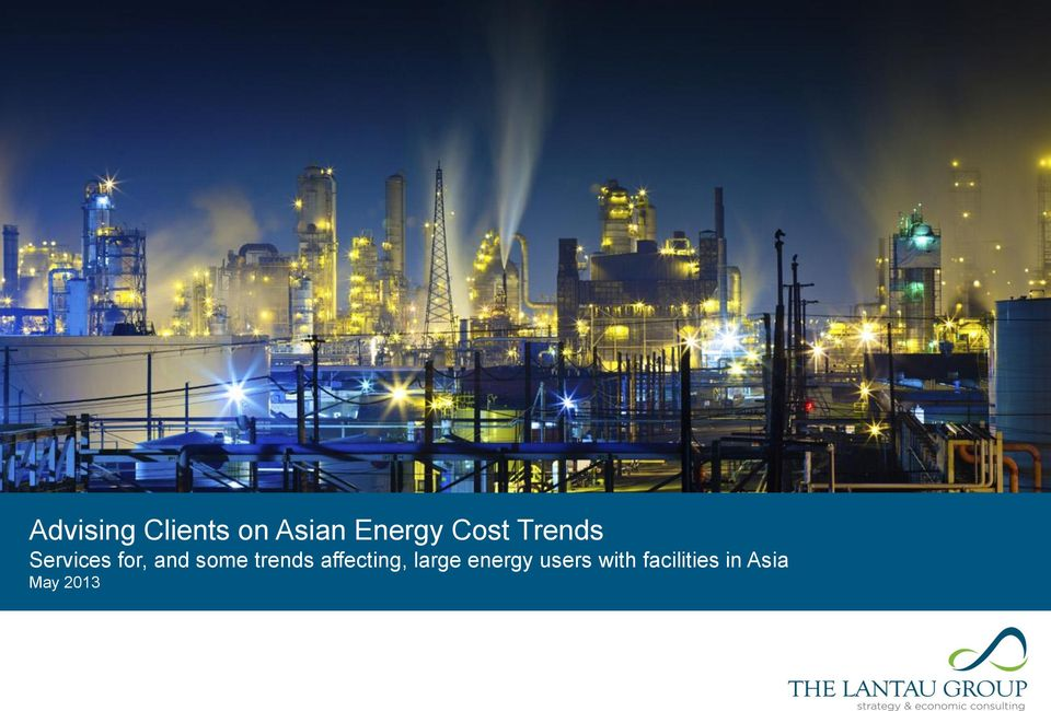 trends affecting, large energy