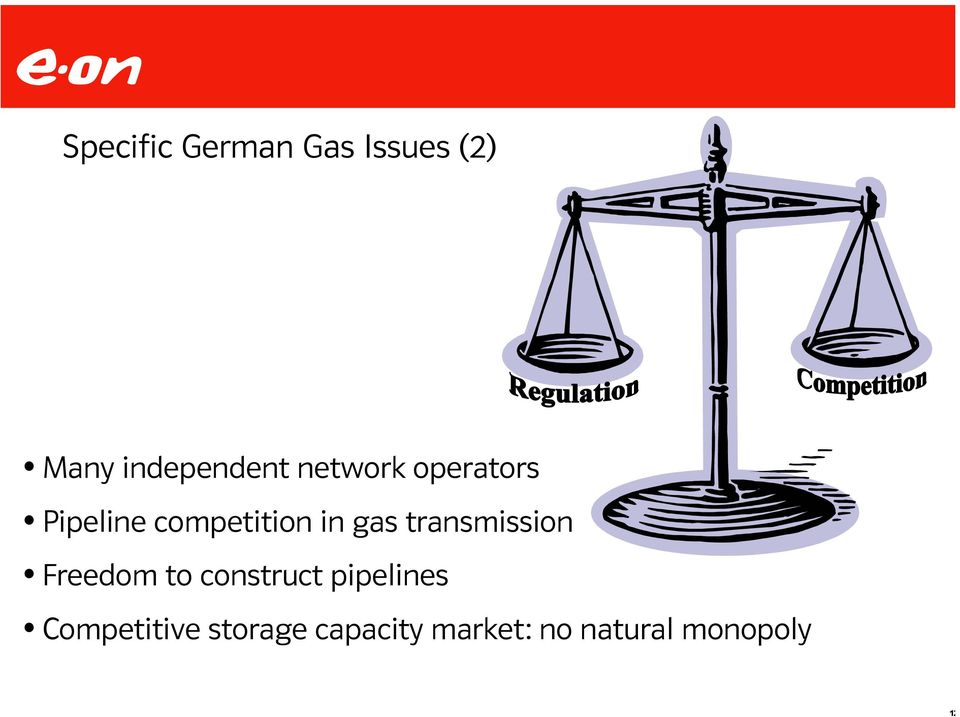 competition in gas transmission Freedom to