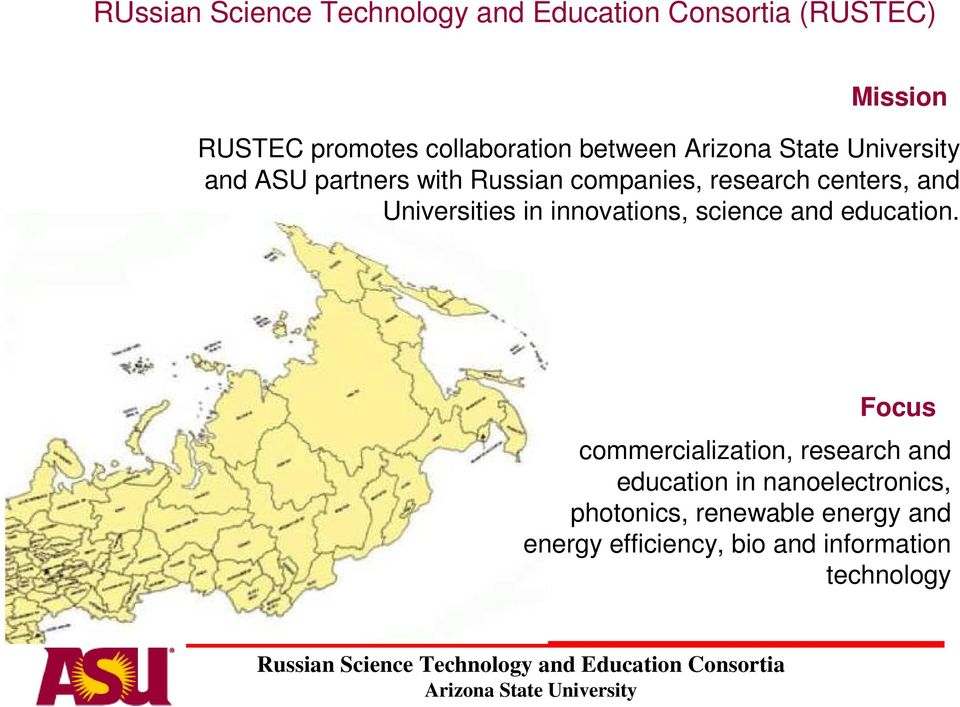 Universities in innovations, science and education Focus commercialization, research and