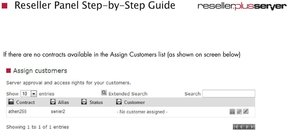 the Assign Customers